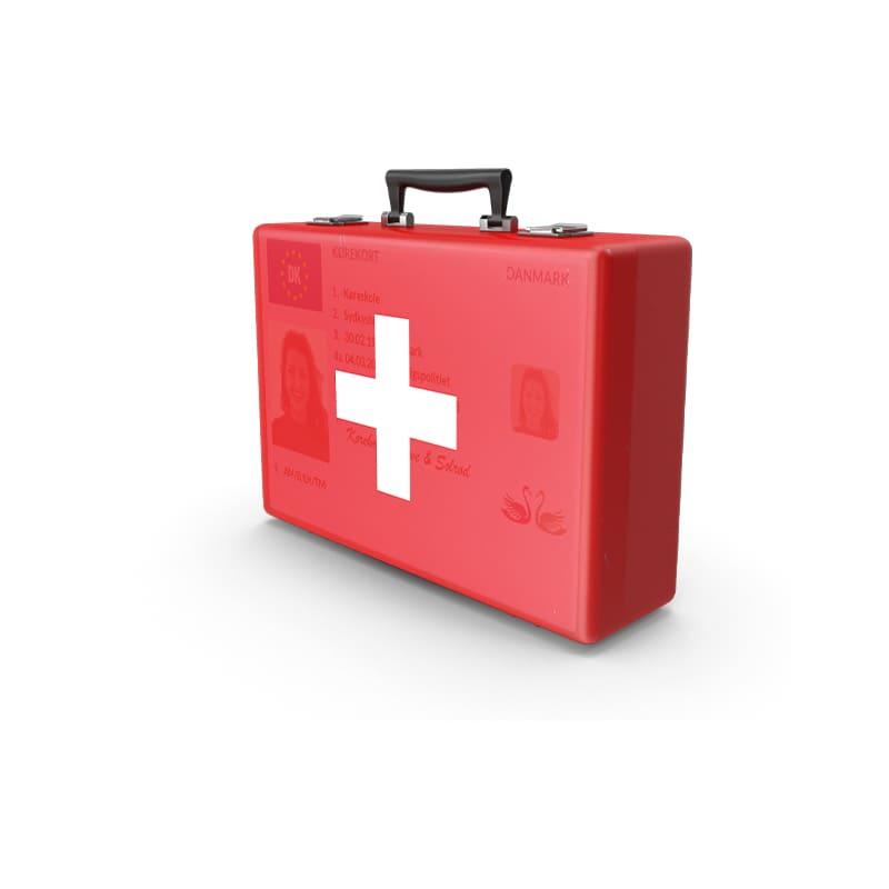 Rød Førstehjælpskursus pakke hos FirstHelp